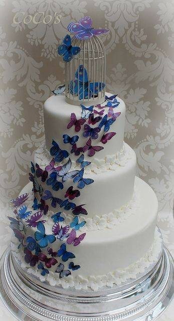 Wedding cake with butterfy