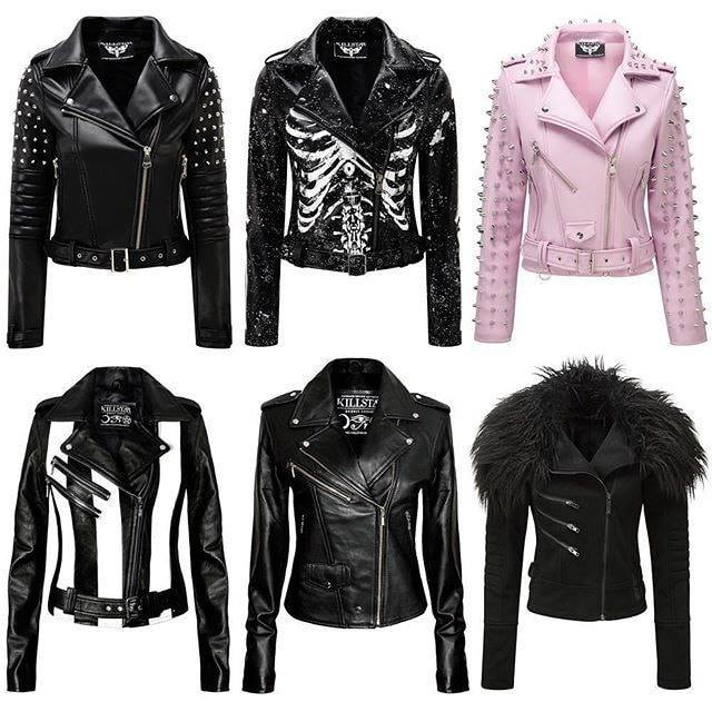rock star leather jacket