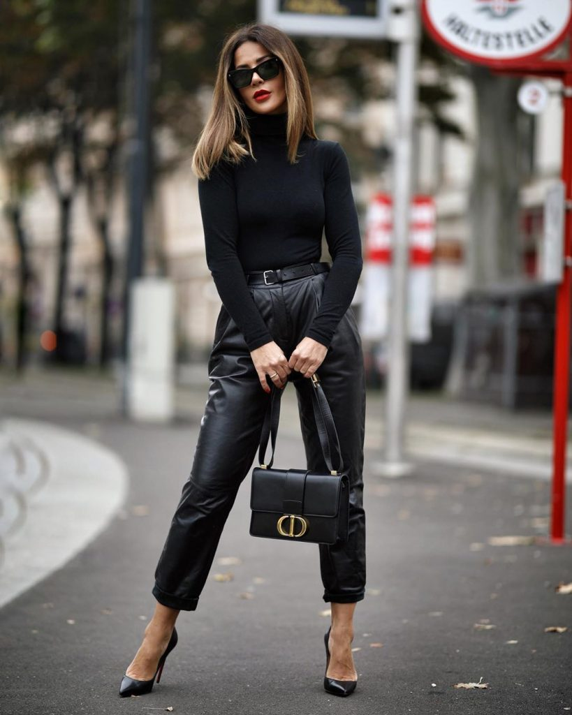 Fashionable winter trends 2020 for those over 40- leather