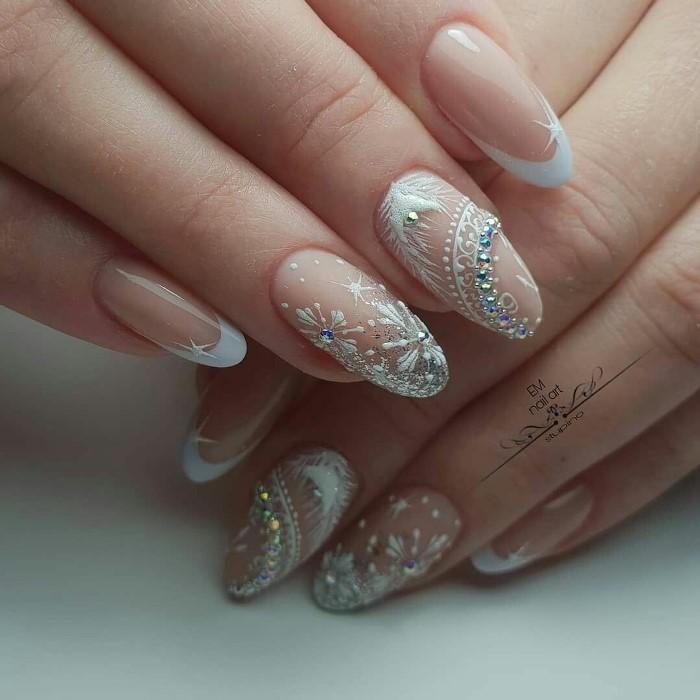 nude Winter Manicure Nail Design Ideas
