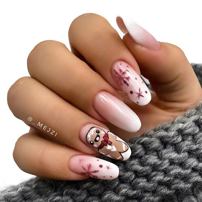 Pink Nude Winter Manicure Nail Design Ideas