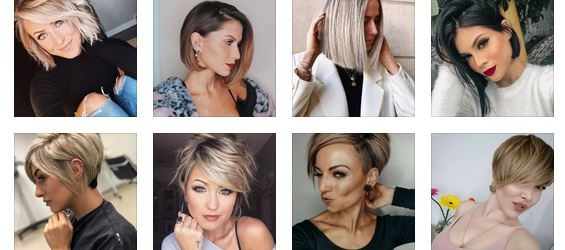 Hairstyles after 30 years for short hair
