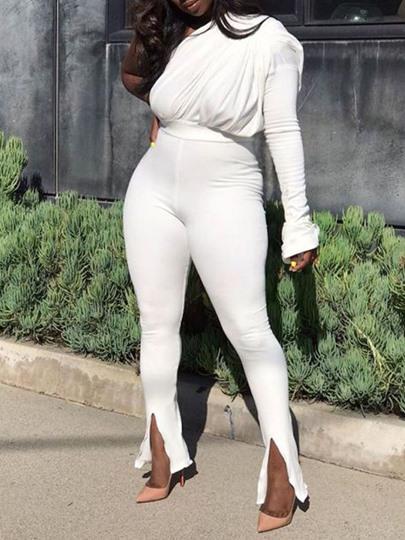 Full Length Plain Skinny Womens Jumpsuit