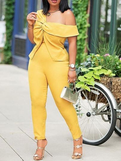 Patchwork Full Length Western Plain Slim Womens Jumpsuit