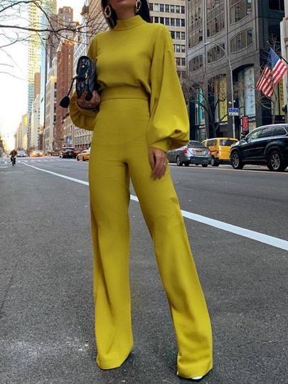 Plain Full Length Fashion Slim Womens Jumpsuit